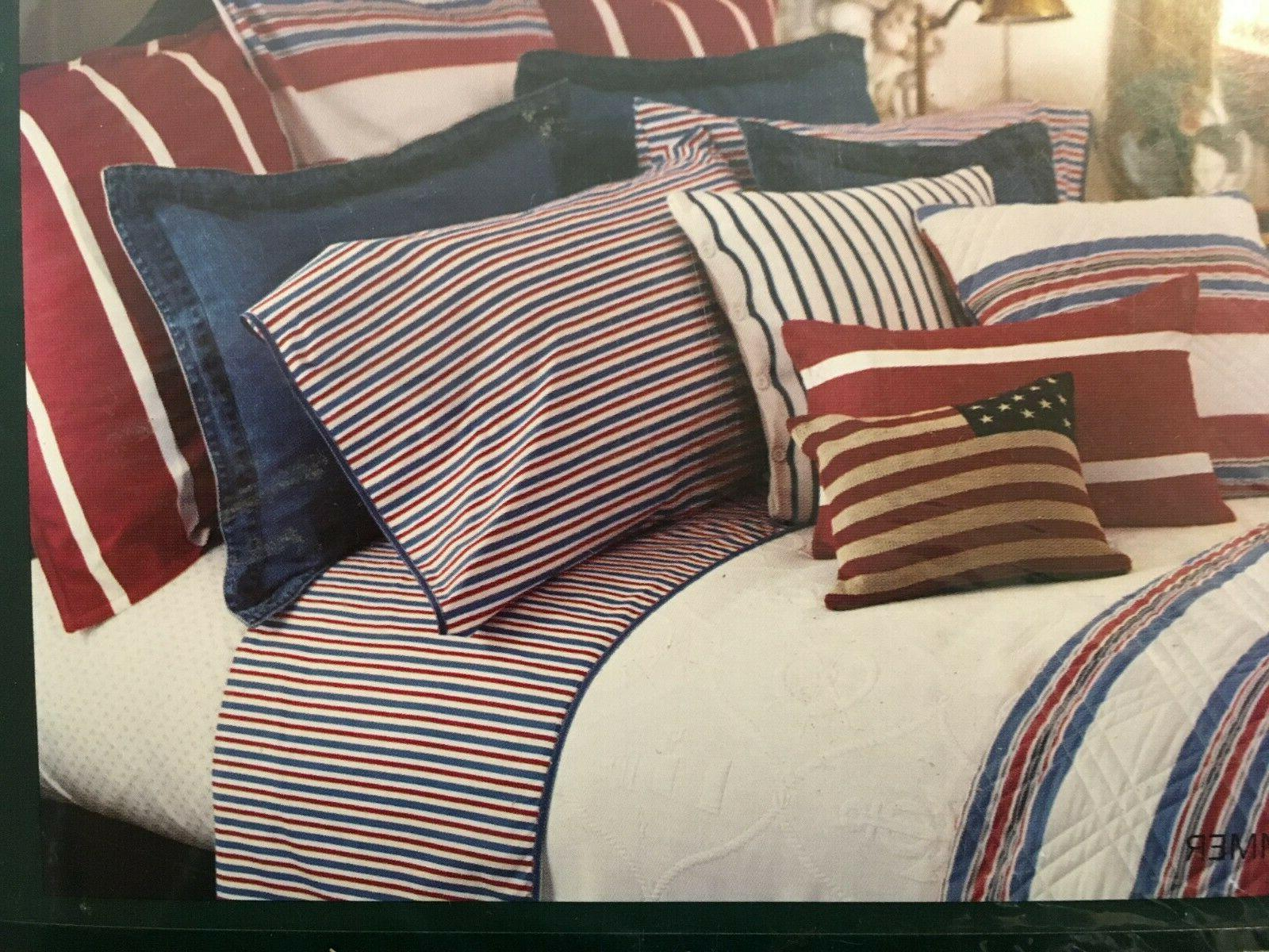 Ralph Lauren AMERICAN SUMMER STRIPES * KING FITTED SHEET * NEW