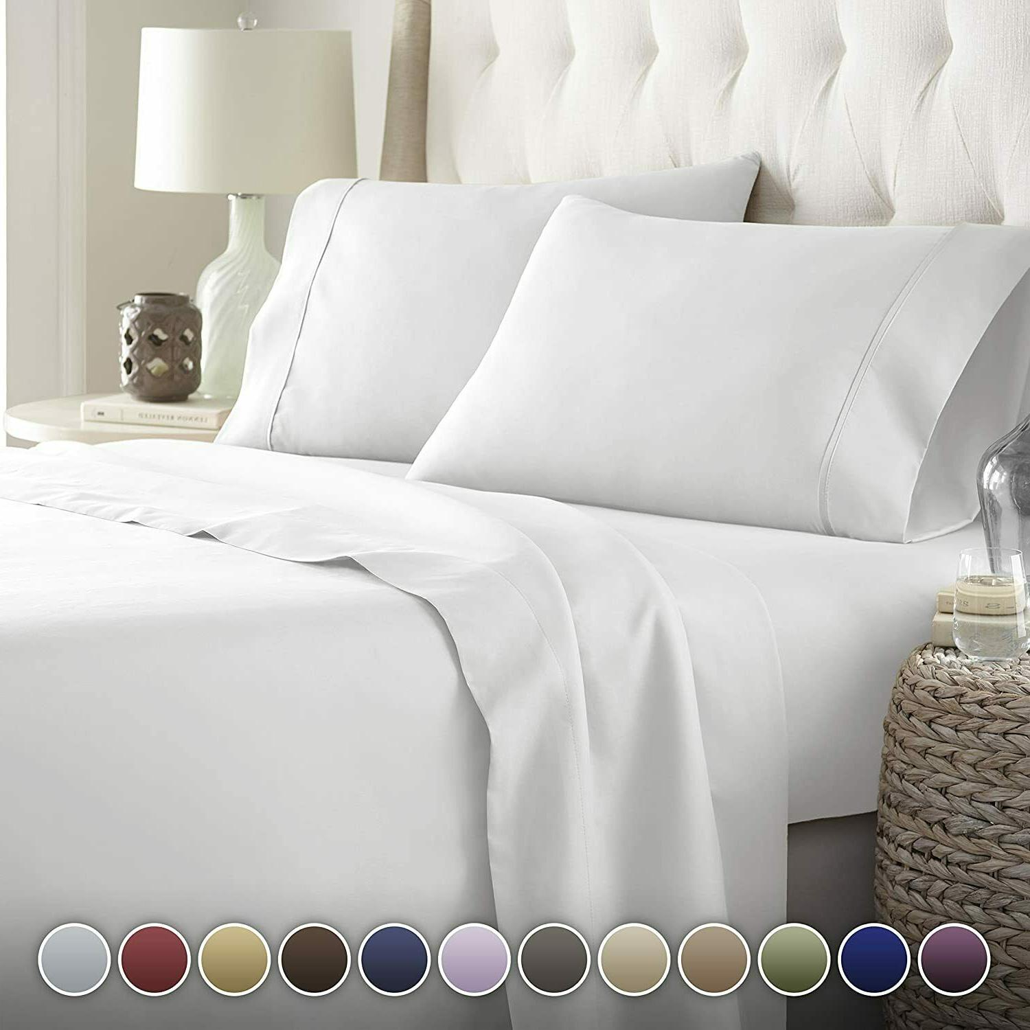 bamboo full queen king sheet set linen