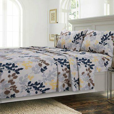 barcelona printed deep pocket percale sheet set