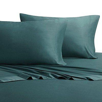 bed sheet california king teal silky softs