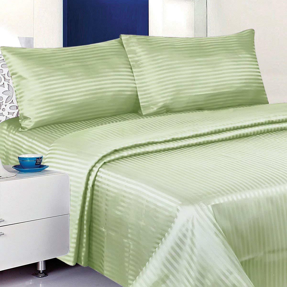 Bed Set 100%Cotton Sheets Size Pocket 4 Piece Sage