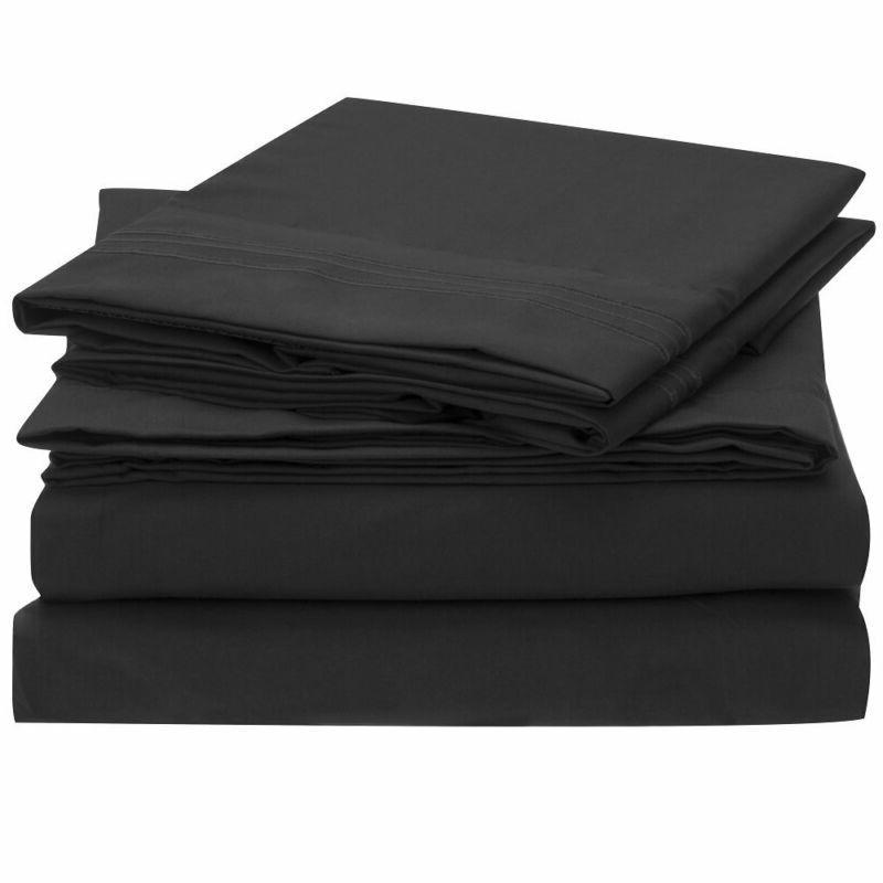 bed sheet set 1800 double brushed microfiber