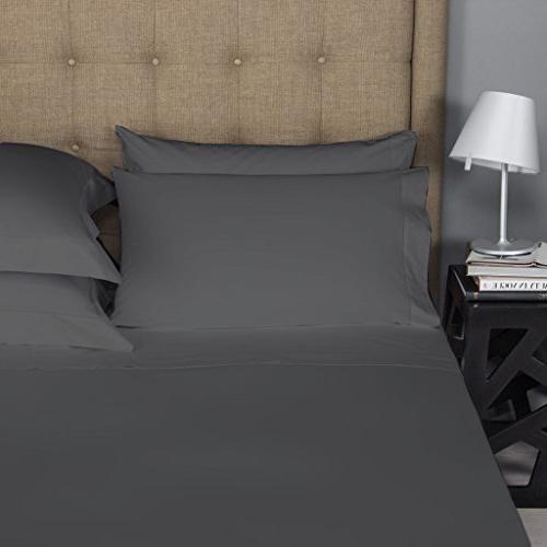 Mayfair Bed Sheet Set Bedspread 100% Micro Fiber Premium Quality Bedding Grey