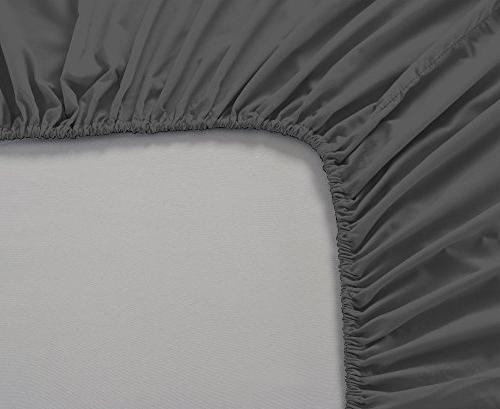 Mayfair Linen Bed Set Bedspread 100% Micro Fiber Pocket Premium Quality Bedding Grey