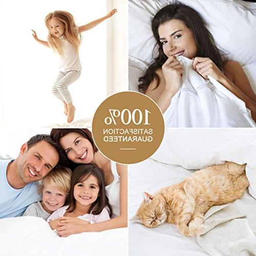 "TEKAMON 4 Piece Bed Set Bedding Microfiber Polyester - Super Soft, Warm, Breathable, Hypoallergenic, Wrinkle and Fade Resistant - 10-16"" Extra Deep Pockets,"