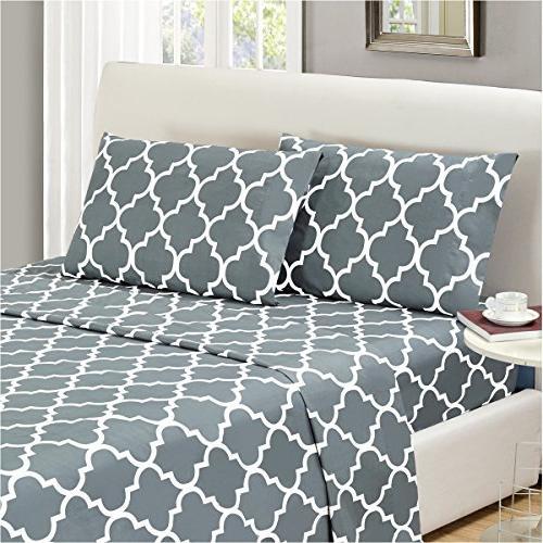 bed sheet set calking gray