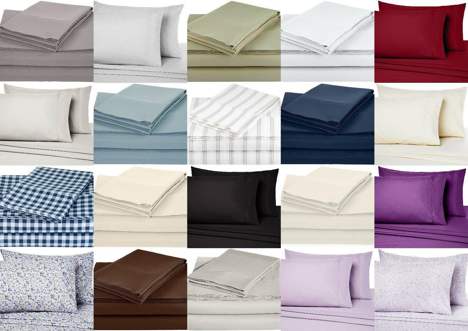 bed sheet set deep pocket bedding sheets