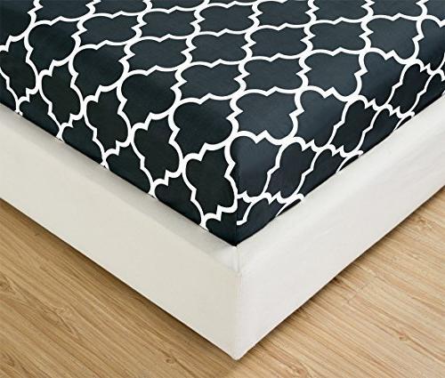 Mellanni Bed King-Black - HIGHEST - Deep Pocket, Wrinkle, Fade, Resistant Hypoallergenic