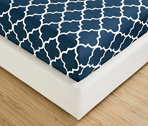 Mellanni King-Navy-Blue - HIGHEST Brushed Microfiber Printed Bedding - Deep Fade, Stain Hypoallergenic 4