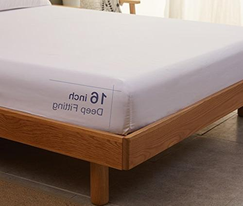 Bed Sheets Size Soft Luxury Sheets Deep Pocket and Hypoallergenic - Piece - Sonoro Kate
