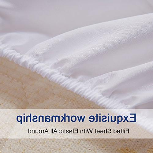 Bed Set King Size Sheets Microfiber Super Soft Count Luxury and Hypoallergenic Piece -