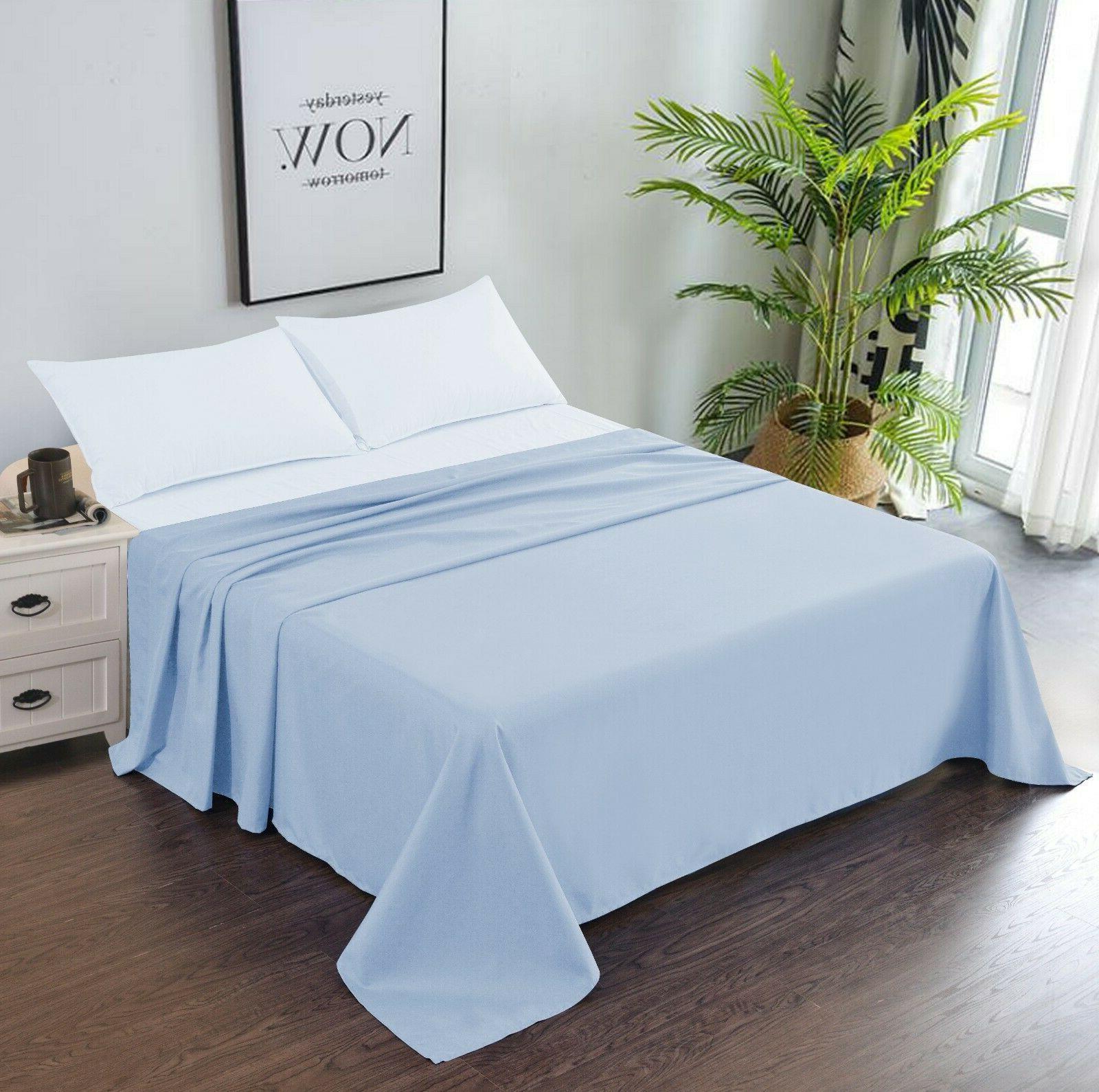 bedding microfiber flat sheet