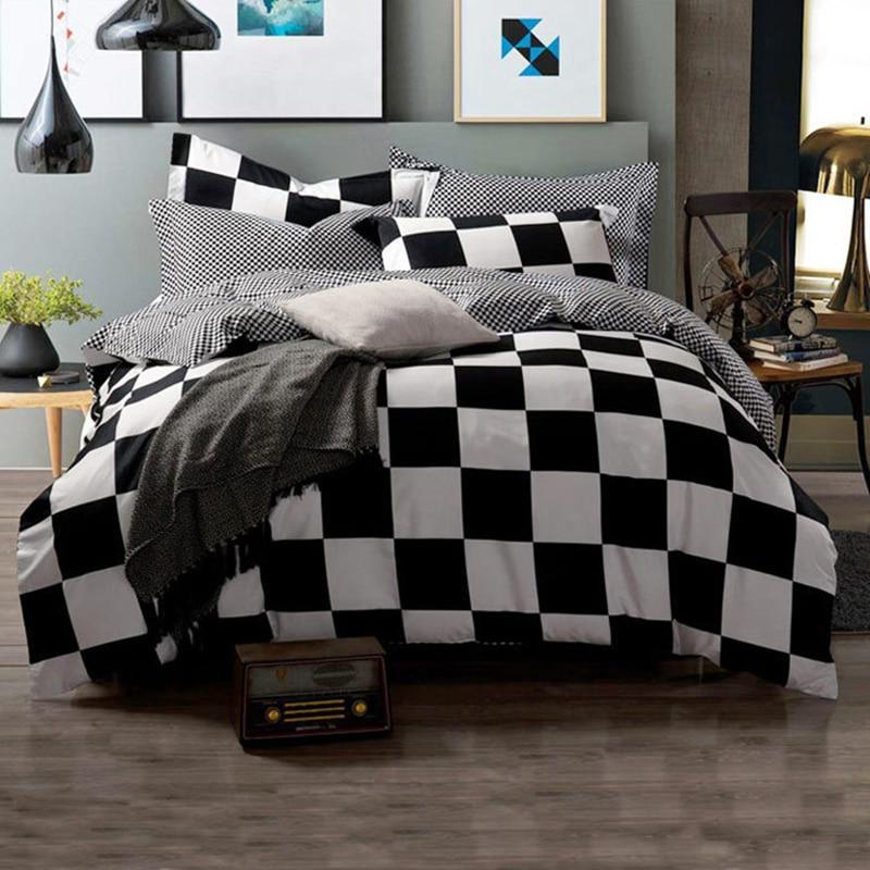 Bedding Set Simple Duvet Bedsheet Pillowcase Full King <font><b>bed</b></font>