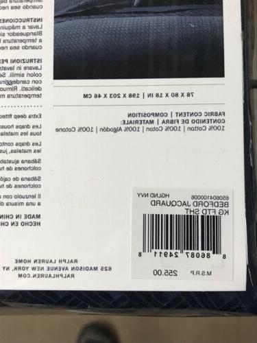 Ralph Deep Navy Sheet Retail $255