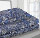 blue paisley sheet set king size 100
