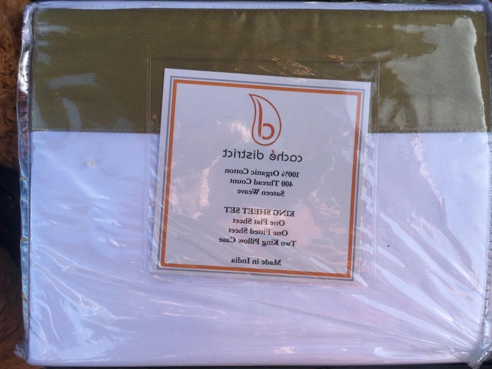 brand new king sheets 100 percent organic