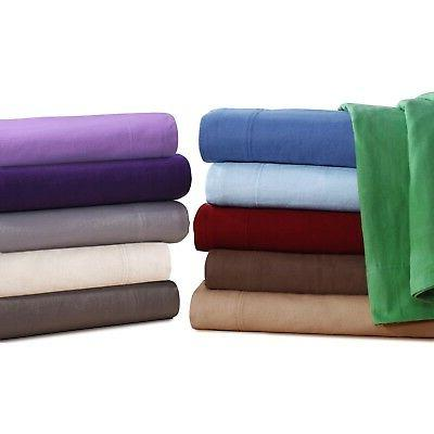 CAL KING Flannel Sheets 5 oz Deep Pocket Ultra Soft Set 100%
