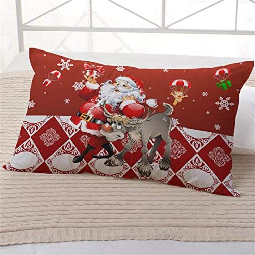 Junhome Pillowcases Printed King Size