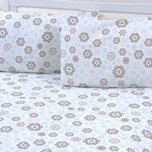 cotton printed flannel pillowcase set