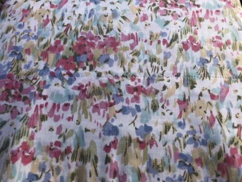 Ralph Watercolors Pink Blue Flowers Floral Sheet