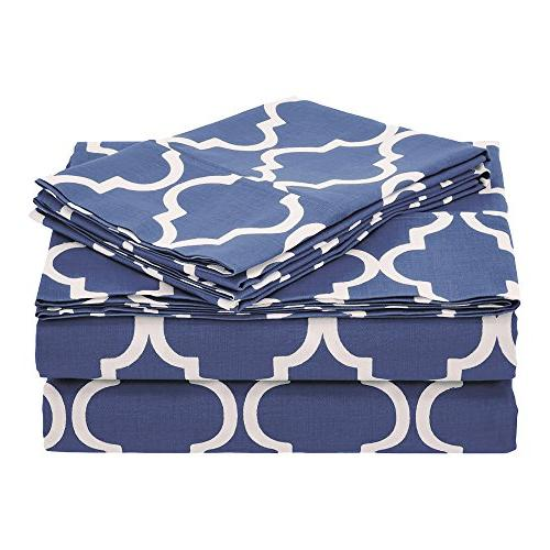cotton trellis geometric bedding