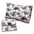 Tribeca Living Dahlia Floral 100% Cotton Deep Pocket Printed