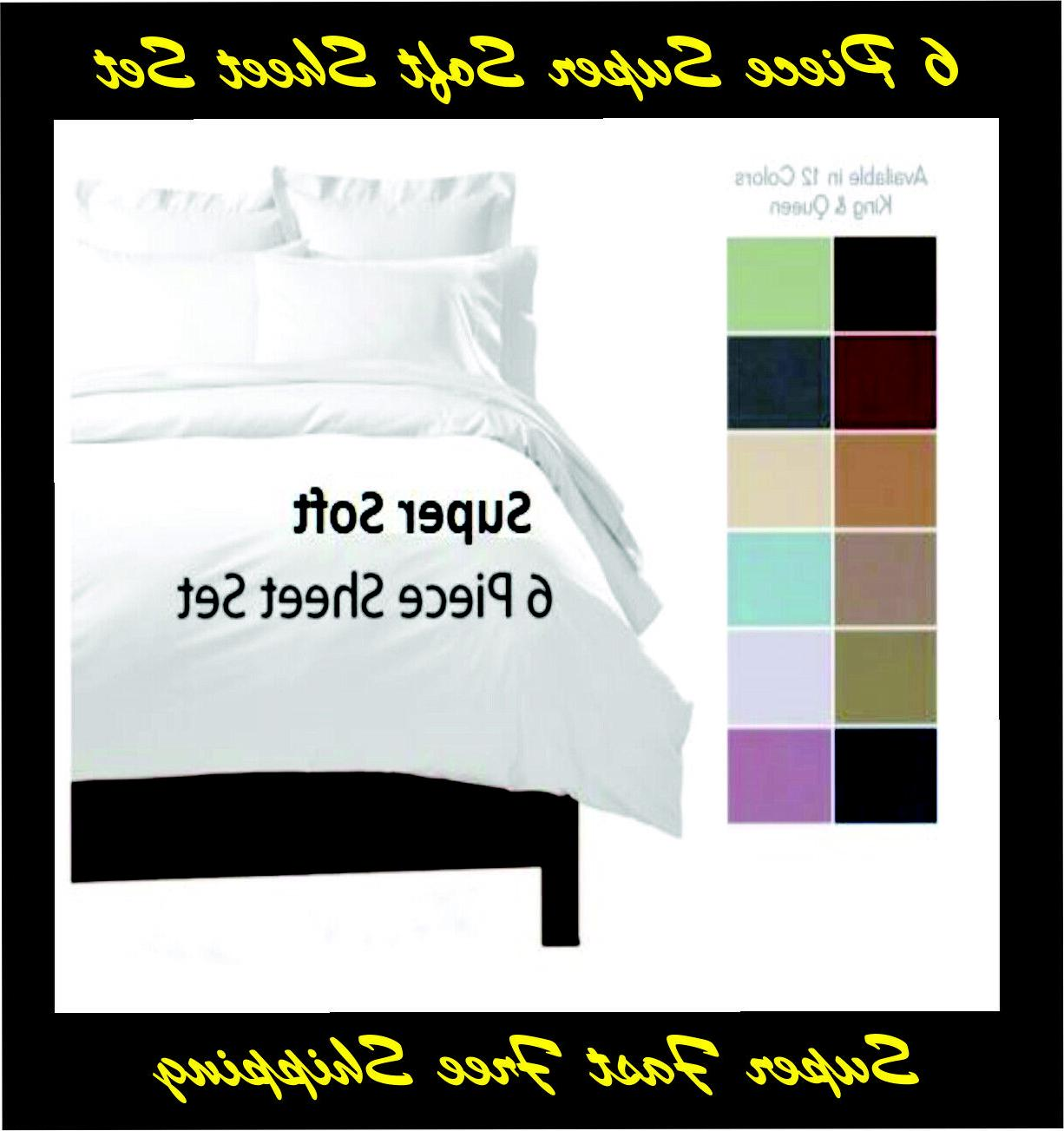 6 DEEP POCKET 2100 COUNT LUXURY COMFORT SERIES SHEET