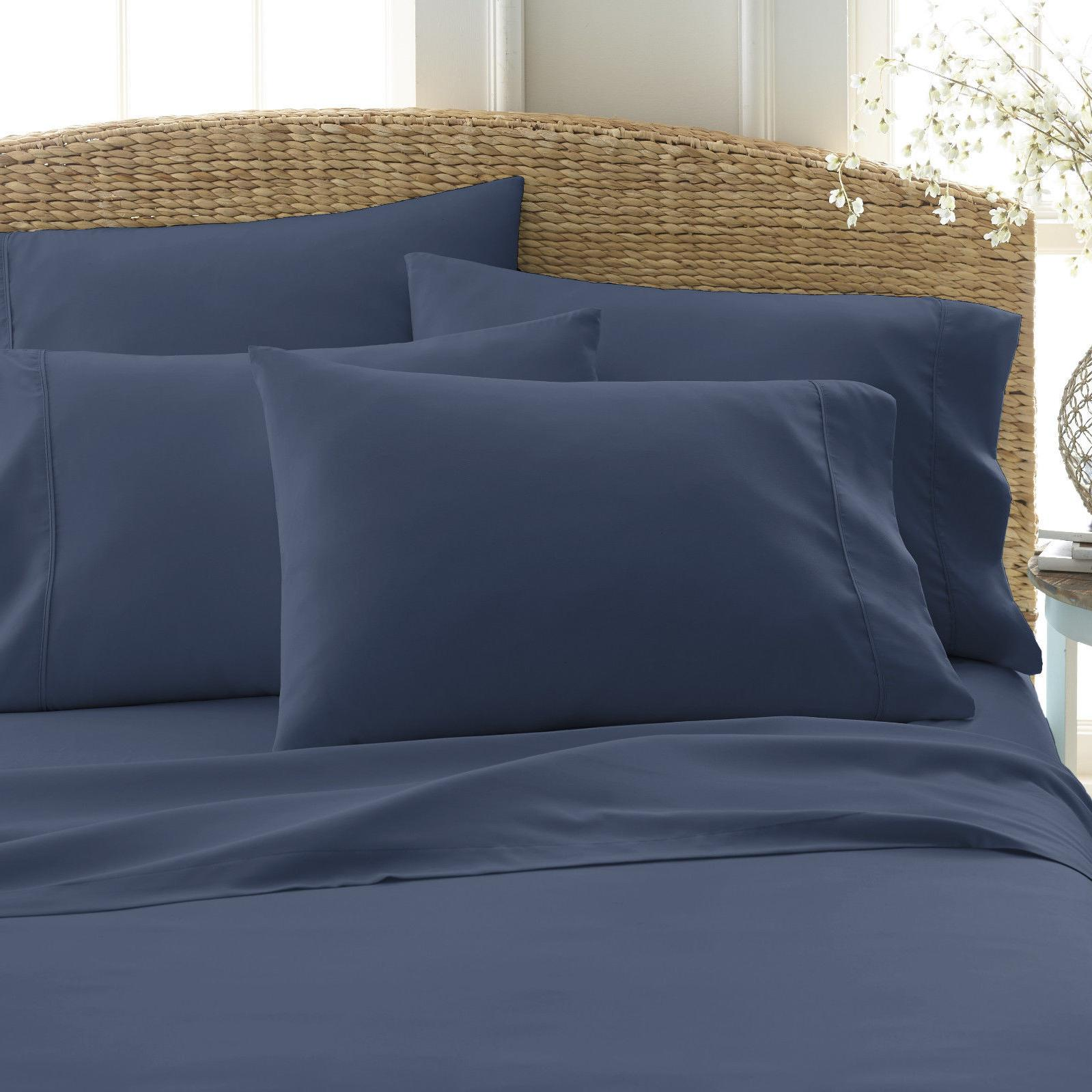 6 PIECE 2100 COUNT SERIES BED SHEET SET