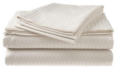 Thread Count 100% Cotton Sateen Set Stripe