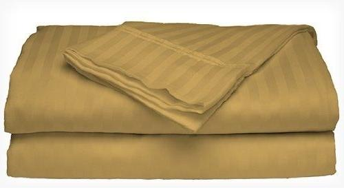2 Hotel 400 Thread Count Cotton Sateen Dobby Stripe