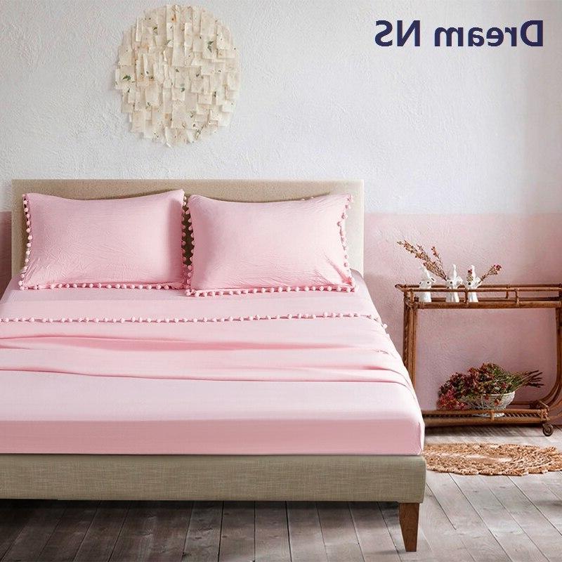Dream NS Bedsheet 30cm <font><b>Long</b></font> Flat Pillowcase Queen Soft de Lavender