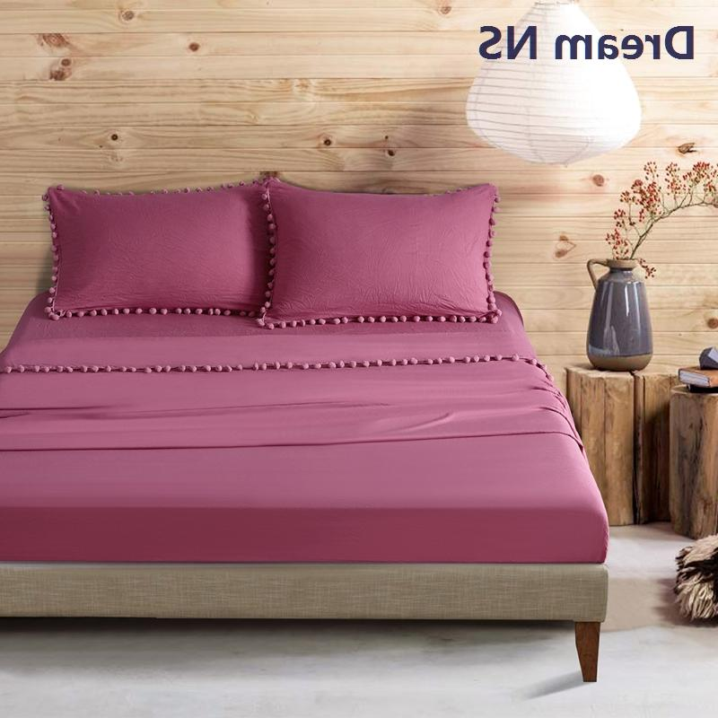 Dream NS Set 30cm Fitted <font><b>Long</b></font> Pillowcase Soft Washed Roupa de