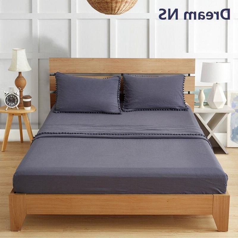 Dream 30cm <font><b>Sheet</b></font> <font><b>Long</b></font> Flat <font><b>Sheet</b></font> Pillowcase Soft Washed de Cama Lavender