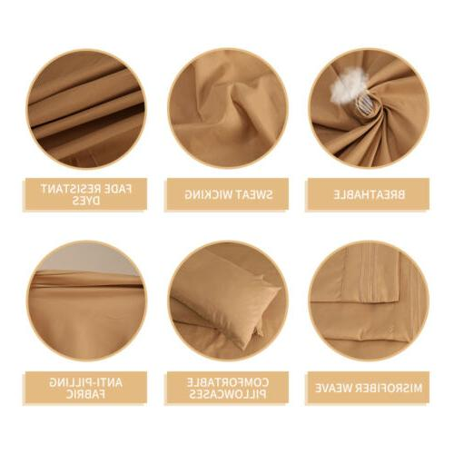 Egyptian Count 4 6 Bedding Sheet Set Pocket