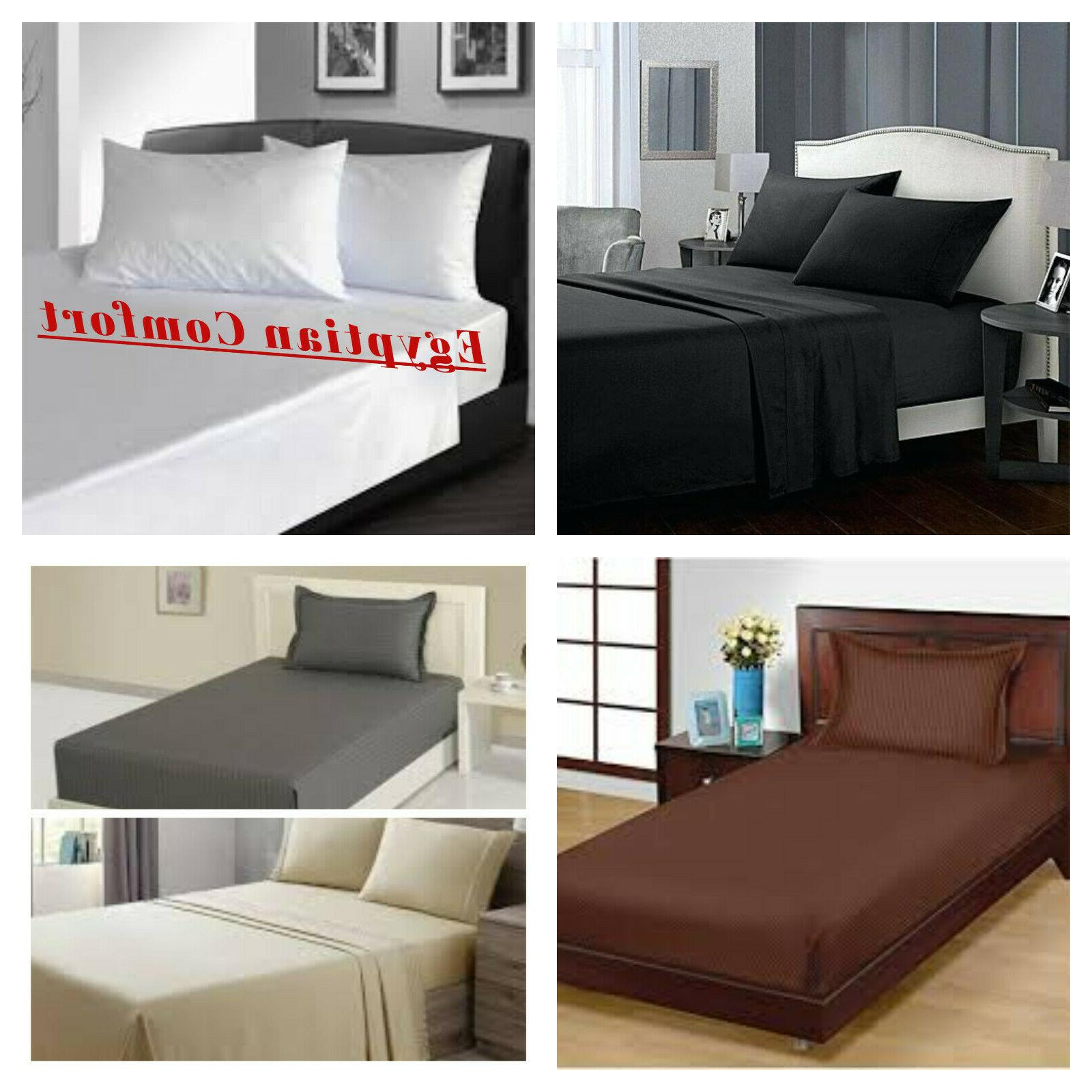egyptian comfort 1900 series flat bed sheets