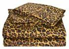 Egyptian Cotton 1 Fitted Sheet Only 15 Inch Deep Leopard Pri