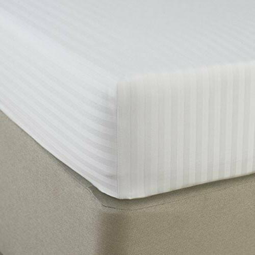 Egyptian Cotton Count Fitted Sheet & Stripe