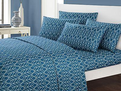Chic Home Fallen Leaf 6 Piece Sheet Set with Pillowcases Geo