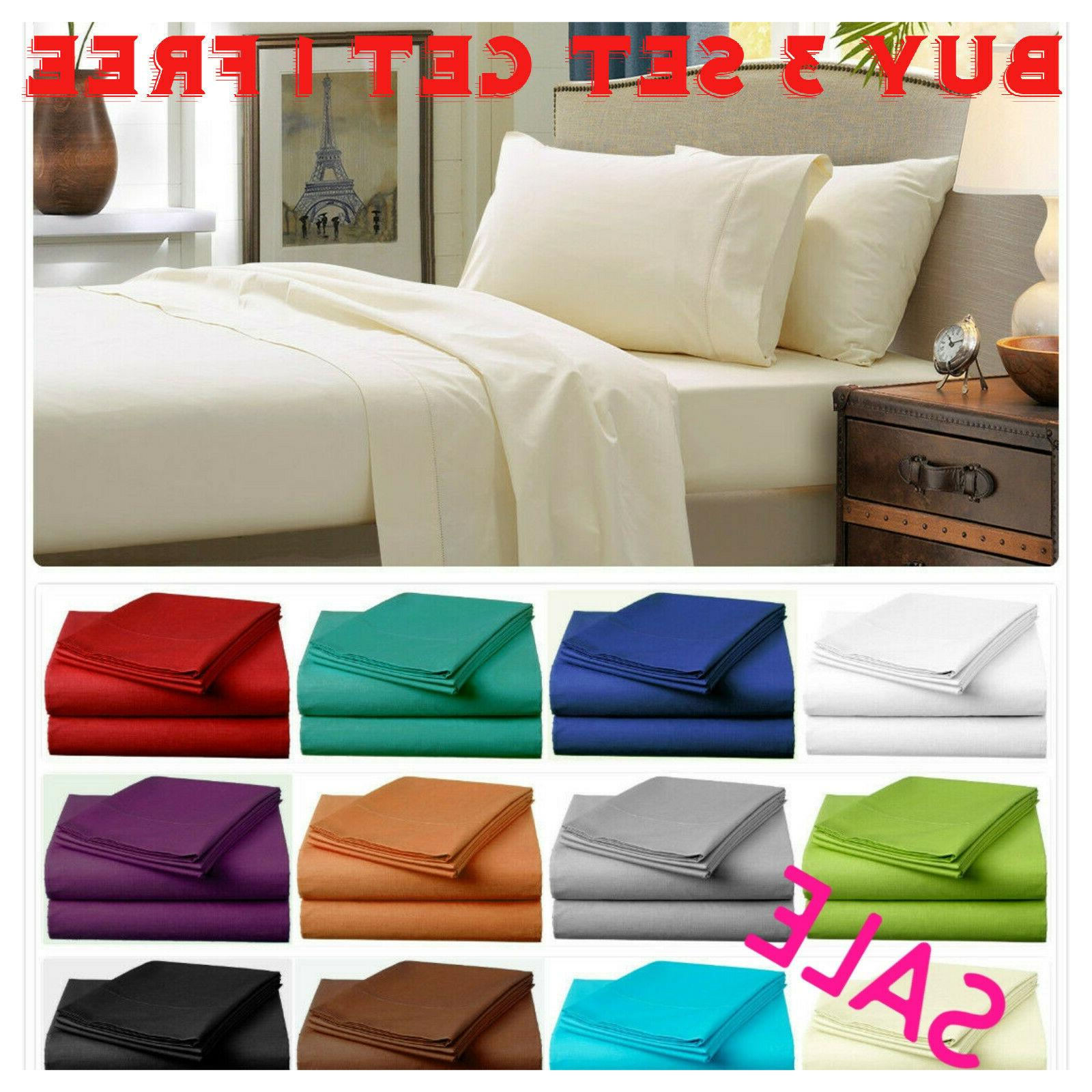 fitted bed sets flat sheets 1900 series