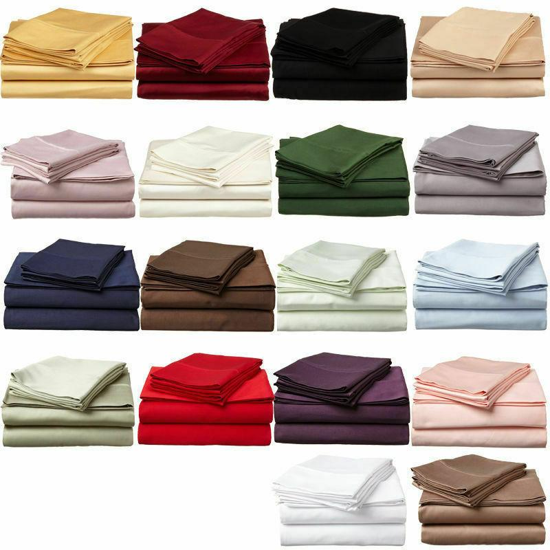 Fitted Sheets Cover California King 800 Thread Cotton