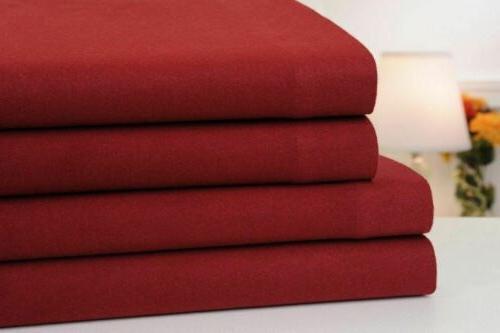 Mellanni Cotton Piece Sheet Set - Deep Pocket, Bedding