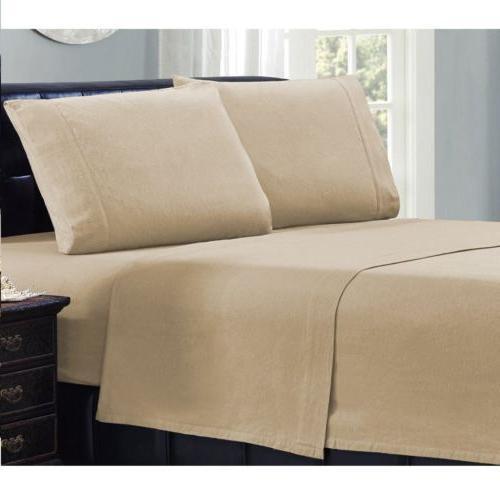 Mellanni Flannel Piece Sheet Bedding