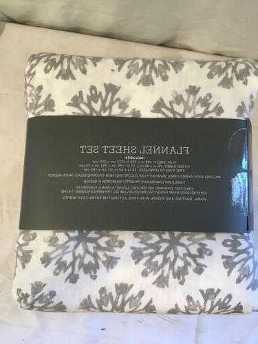 Threshold Sheet Snowflake 100% Cotton King