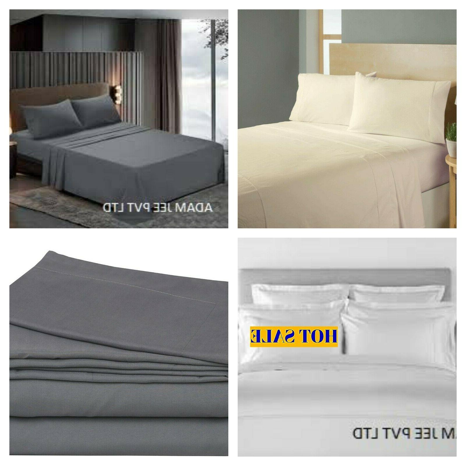flat sheet 1900 count soft solid top