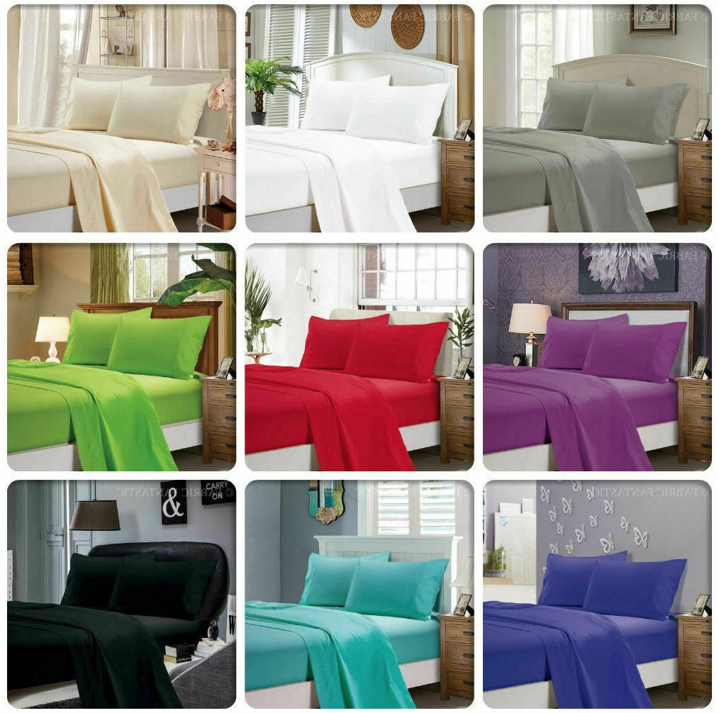 flat sheet 1900 count wrinkle free soft