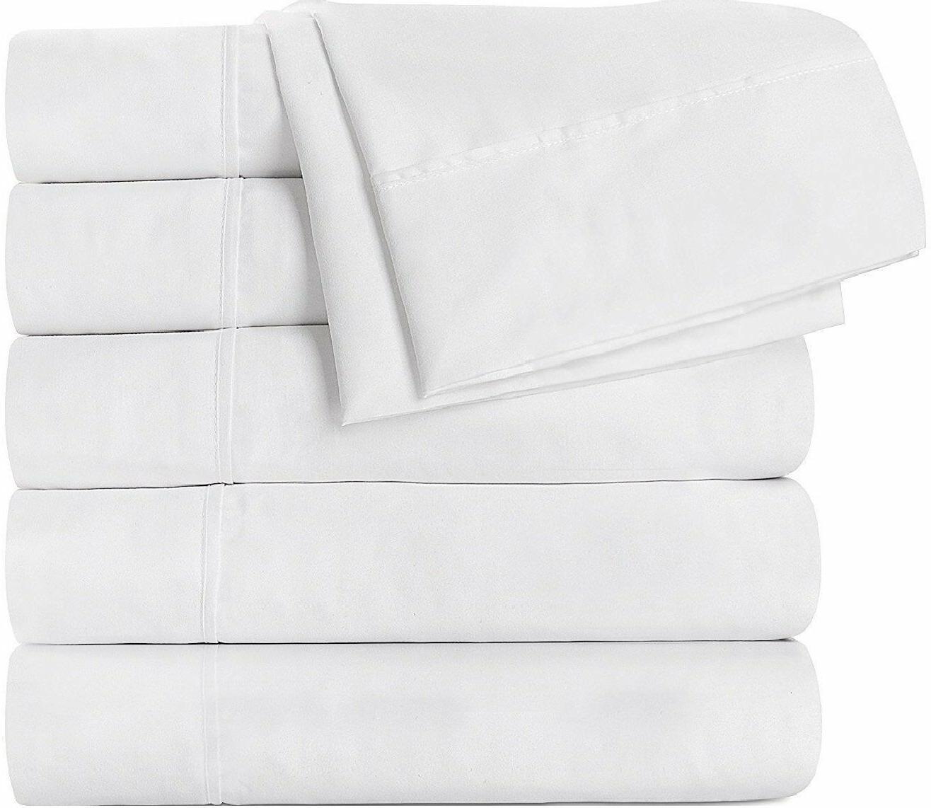 Flat Sheet Brushed Microfiber Soft Breathable Pack of 6 Utop