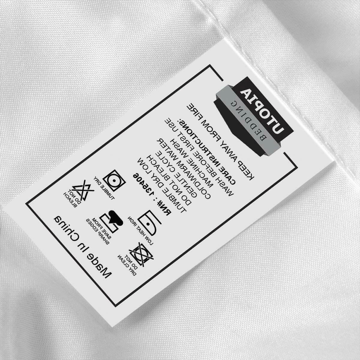 Flat Sheets Brushed Microfiber Breathable Quality of Utopia