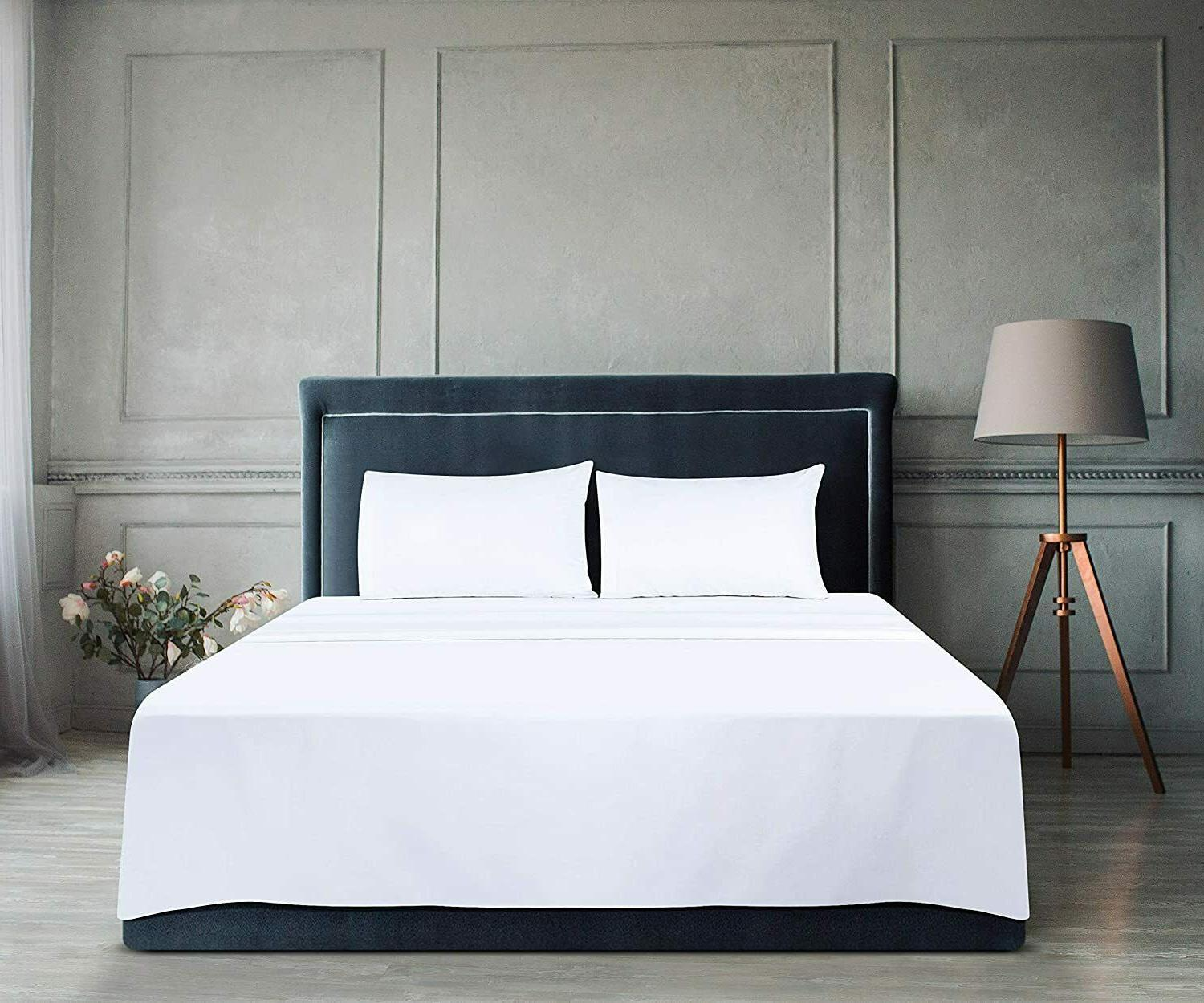 Pack of 6 Sheets Brushed Microfiber Quality in White Bedding