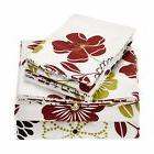 Tribeca Living Floral Printed Deep Pocket Flannel Sheet Se
