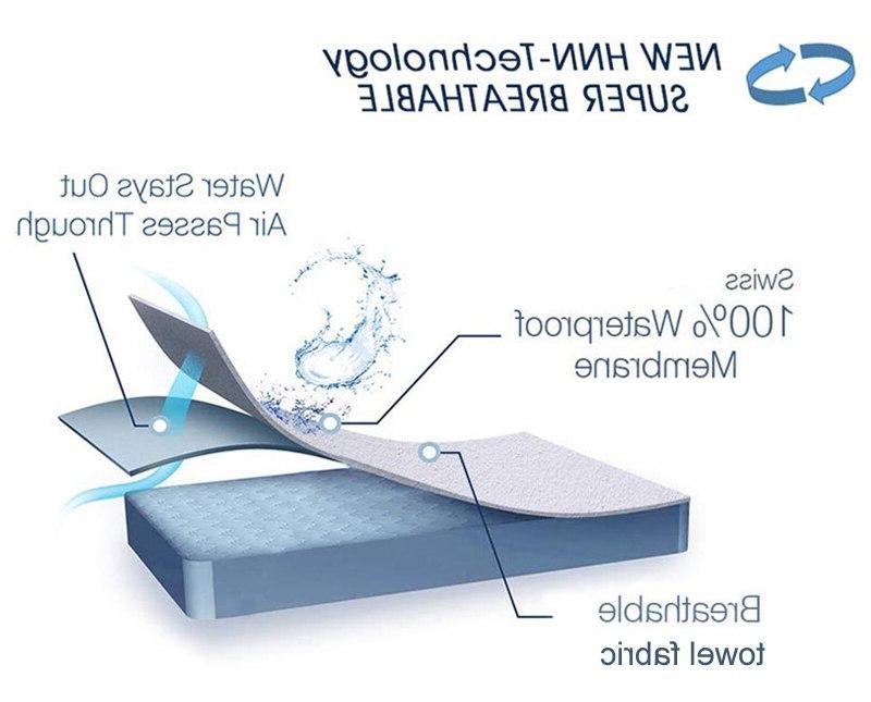 <font><b>100</b></font>% Waterproof Premium Hypoallergenic Terry Cover Band <font><b>King</b></font>